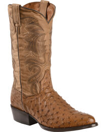 Dan Post Men's Full Quill Ostrich Tempe Western Boots, , hi-res