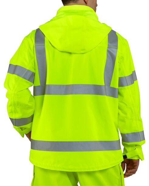 Carhartt Men's High Visibility Class 3 Waterproof Jacket, Lime, hi-res
