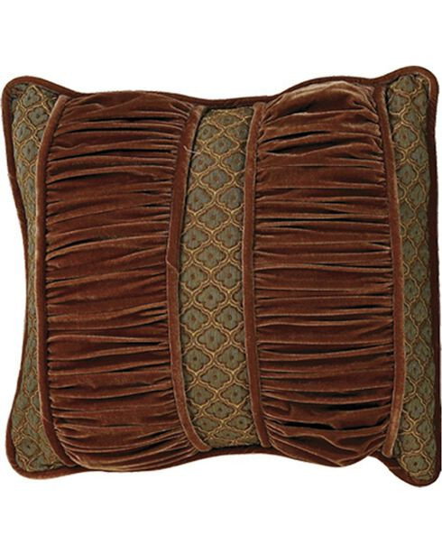 HiEnd Accents Bianca II Ruched Section Pillow, Brown, hi-res