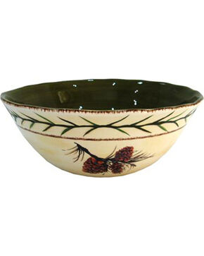 HiEnd Accents Pine Cone Serving Bowl, Multi, hi-res