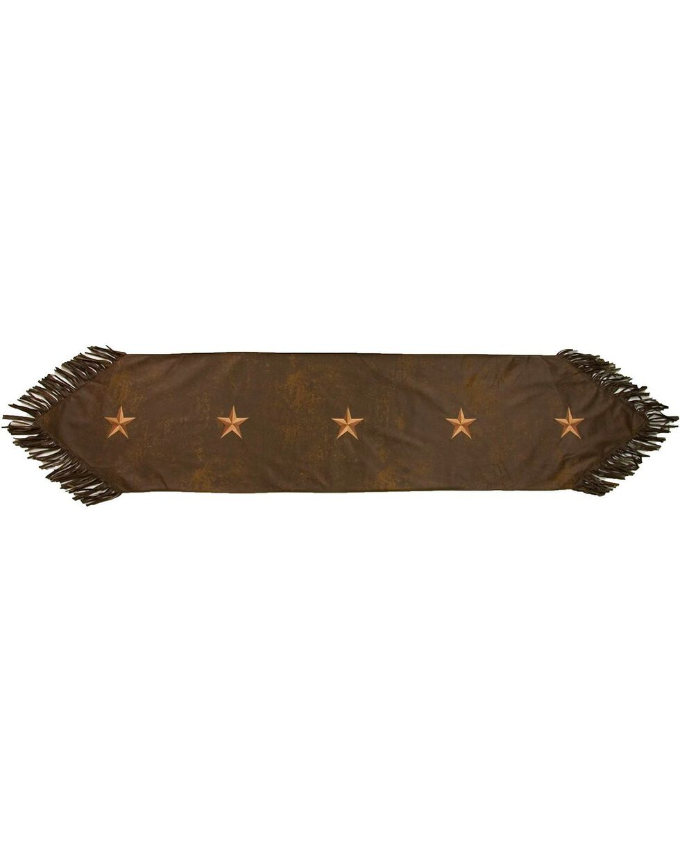 HiEnd Accents Embroidered Star Table Runner, Brown, hi-res