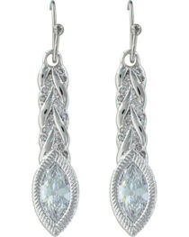 Montana Silversmiths Women's Woven Light Earrings , Silver, hi-res