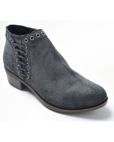 Women's Brenna Side Lace Boot Round Toe