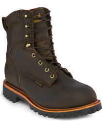 Chippewa Men's Insulated Waterproof Steel Toe Utility Work Boots, , hi-res