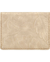 Bandana by American West Women's Floral Embossed Folded Snap Wallet, , hi-res