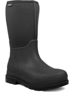 Bogs Men's Black Stockman Rubber Waterproof Boots - Round Toe , Black, hi-res