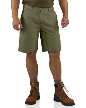 Carhartt Men's Washed Twill Dungaree Shorts, Green, hi-res