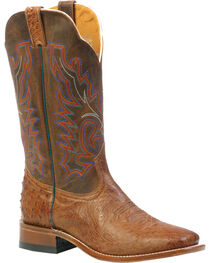 Boulet Smooth Mad Dog Ranger Ostrich Boots - Square Toe, , hi-res