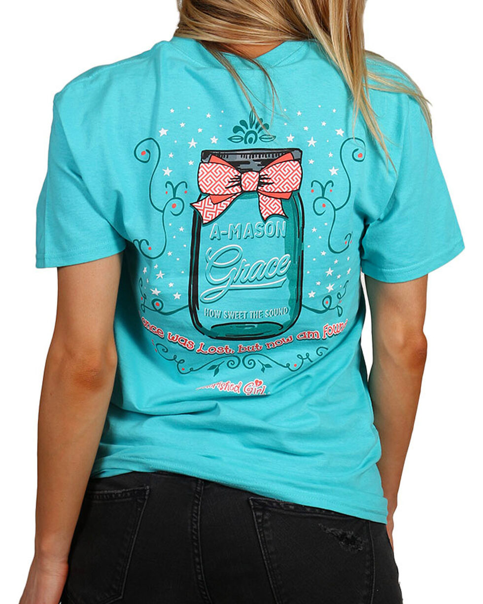 "Cherished Girl Women's ""A Mason Grace"" Graphic Tee, Light/pastel Green, hi-res"