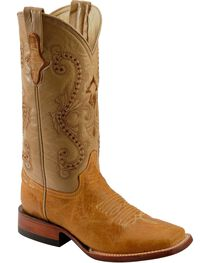 Ferrini Women's Distressed Kangaroo Square Toe Western Boots, , hi-res