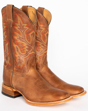 Cody James®  Men's Square Toe Western Boots, Brown, hi-res