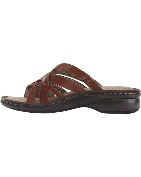 Eastland Women's Cinnamon Lila Thong Sandals , Brown, hi-res