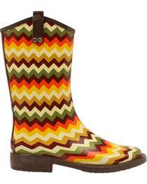 Blazin Roxx Clara Chevron Rain Boots - Square Toe , , hi-res