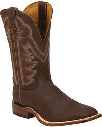 Tony Lama Men's Americana Stockman Western Boots, Chocolate, hi-res