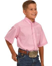 Panhandle Boys' Button Down Short Sleeve Shirt , , hi-res