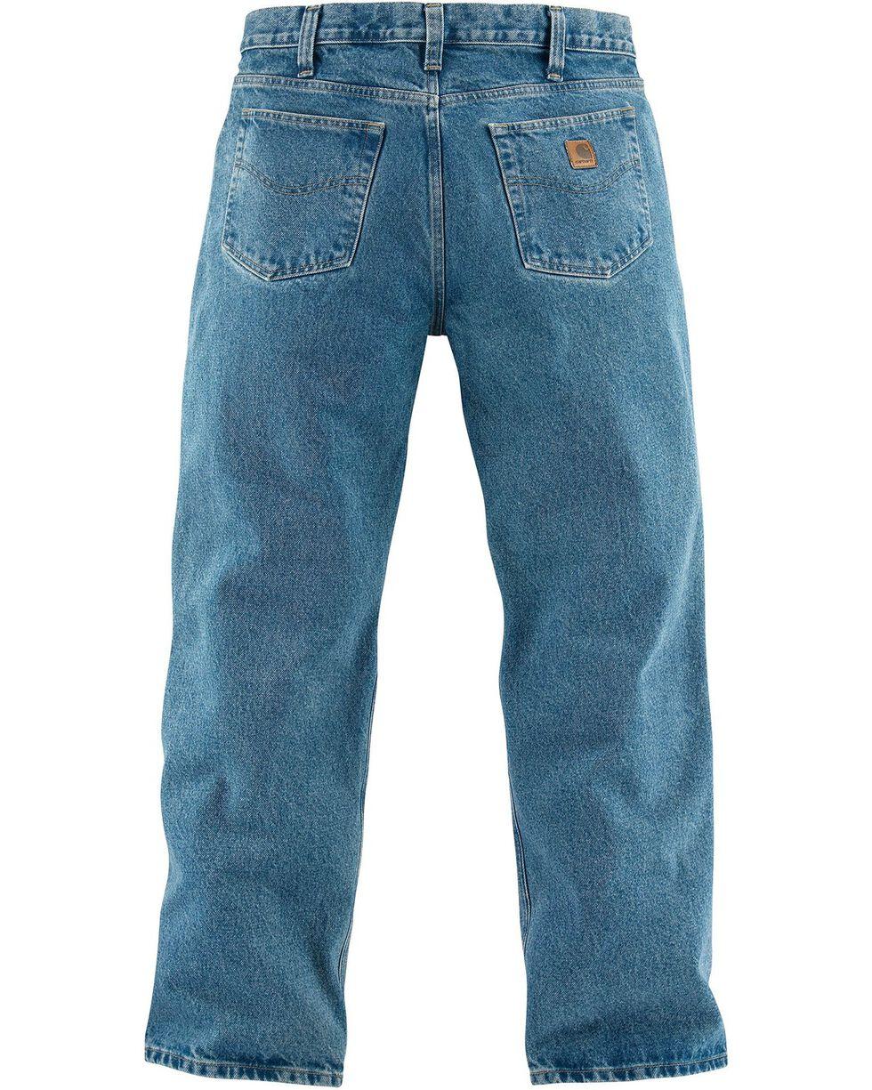 Carhartt Relaxed Fit Straight Leg Five Pocket Work Jeans, Lt Denim, hi-res