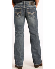 Rock and Roll Cowboy Pistol Fit Double V Jeans - Straight Leg , , hi-res