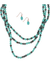 Shyanne® Women's Turquoise Oval Beaded Jewelry Set, , hi-res