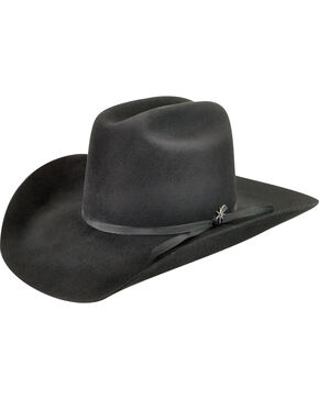 Bailey Men's Harshaw 2X Black Cowboy Hat , Black, hi-res