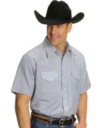 Ely Men's Oxford Western Shirt - Big, Tall, Big/Tall, , hi-res