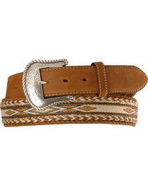 Tony Lama Horsehair Ribbon Leather Belt, , hi-res