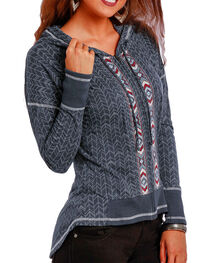 Panhandle Women's Aztec Embroidered Full Zip Hoodie, , hi-res