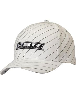 PBR Striped Logo Patch Cap, White, hi-res