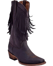 Ferrini Women's Desperado Fringe Detail Boots - Square Toe , , hi-res