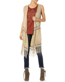Miss Me Women's Oh Mayan Fringe Vest, , hi-res
