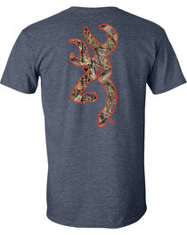 Browning Men's Mossy Oak Country Buckmark Navy Short Sleeve Tee, , hi-res