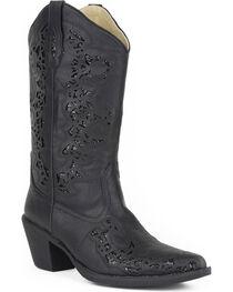 Roper Women's Black Alisa Fashion Boots - Pointed Toe , , hi-res