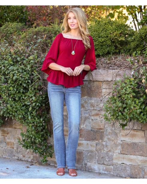 Wrangler Aura Women's Slimming Straight Leg Jeans, Denim, hi-res