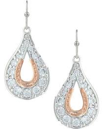 Montana Silversmiths Women's Horseshoe Earrings, , hi-res