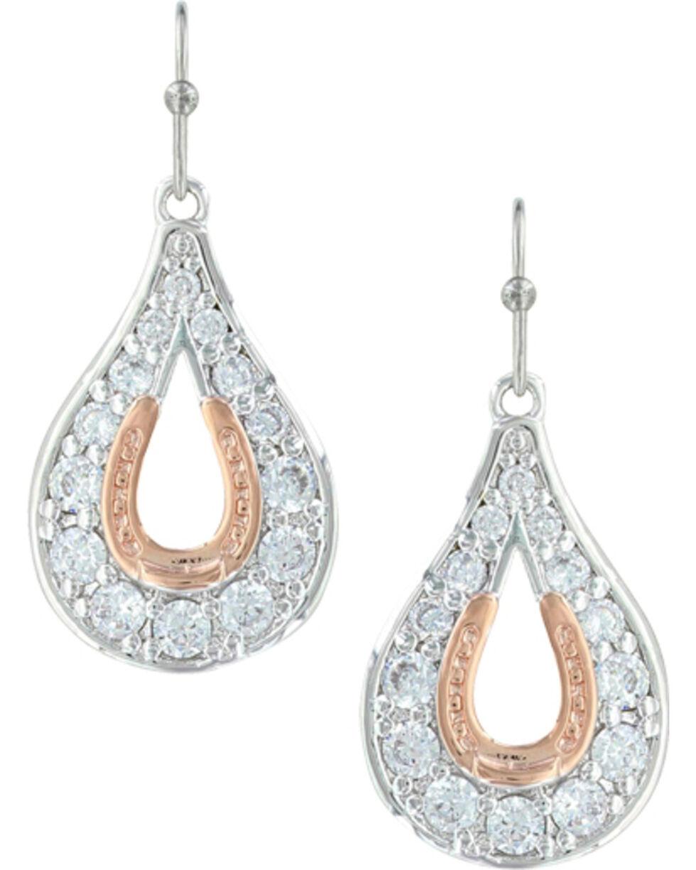 Montana Silversmiths Women's Horseshoe Earrings, Silver, hi-res
