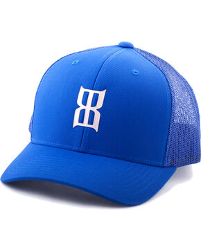 BEX Men's Rubberized Icon Snap-Back Ball Cap, Blue, hi-res