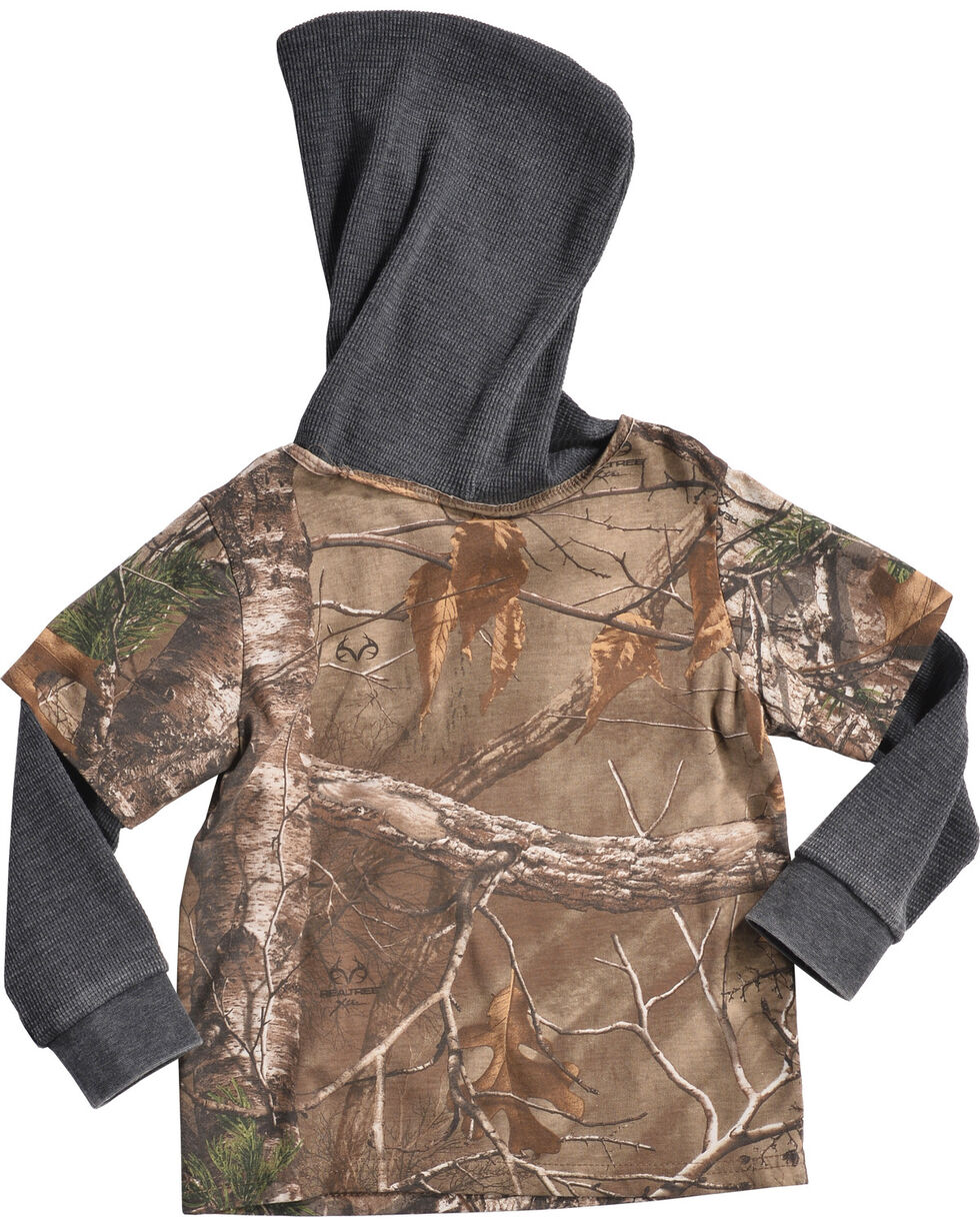 Realtree Toddler Boys' Camo Layered Hoodie, Camouflage, hi-res
