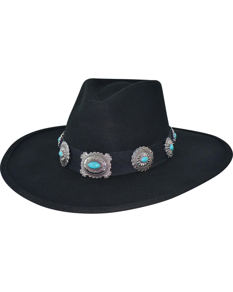 Bullhide Women's Black Iroquois Hat , Black, hi-res