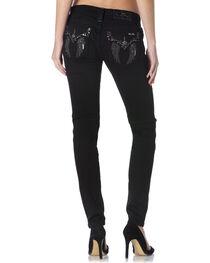 Miss Me Women's Black Skinny Jeans, , hi-res