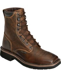Justin Men's Stampede Steel Toe Lace-Up Work Boots, , hi-res