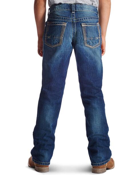 Ariat Boy's B5 Boundary Straight Leg Jeans, Med Blue, hi-res