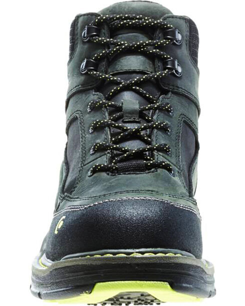 "Wolverine Men's Overman 6"" Lace-Up WP Comp Toe Work Boots, Grey, hi-res"