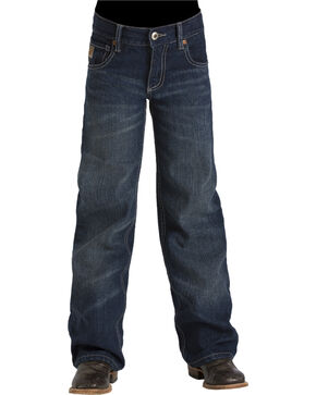 Cinch Boys' Tanner Slim Jeans - Boot Cut, Indigo, hi-res