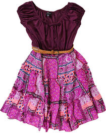 Lilt Girls' Peasant Dress, , hi-res