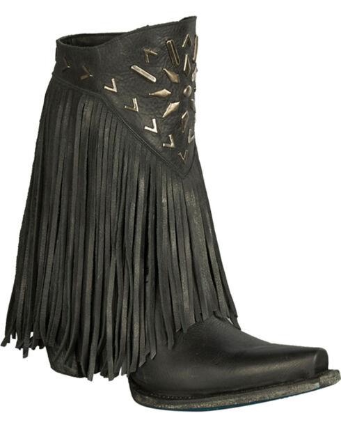 Lane Women's Fringe It Western Fashion Boots, Black, hi-res