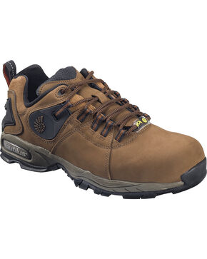 Nautilus Women's Composite Safety Toe Work Shoes, Brown, hi-res
