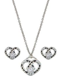 Montana Silversmiths Women's Heart Jewelry Set, , hi-res
