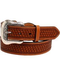 Nocona Men's Conchos Leather Western Belt , , hi-res