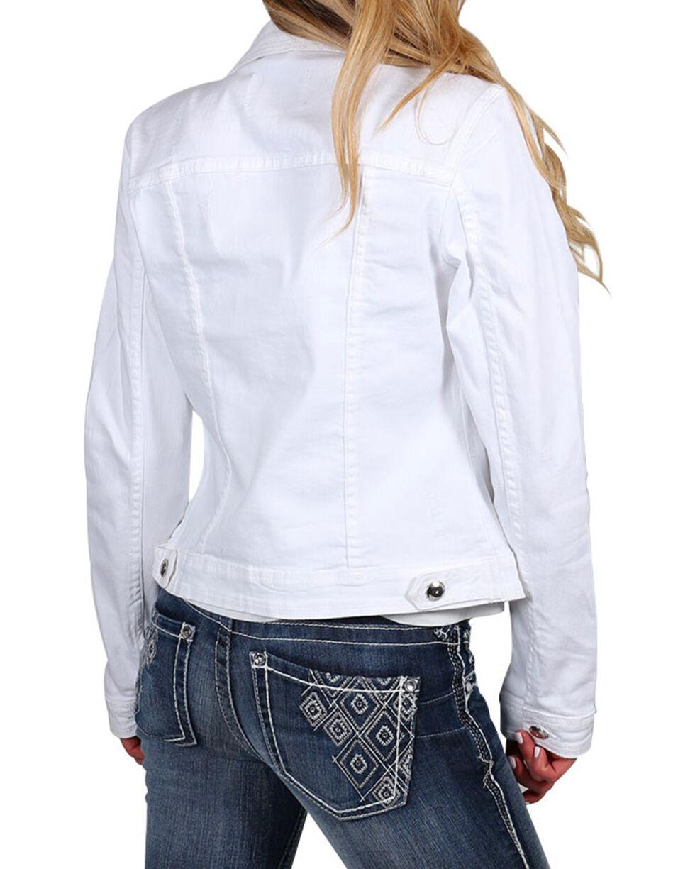 Boom Boom Jeans Women's White Vintage Denim Jacket, , hi-res