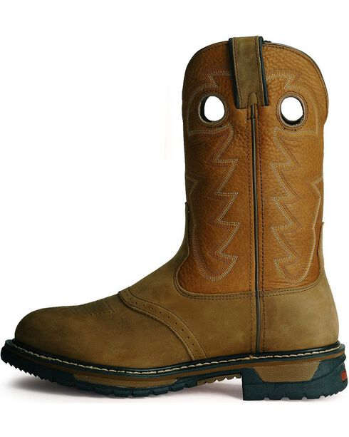 Rocky Men's Branson Waterproof Western Work Boots, Aztec, hi-res