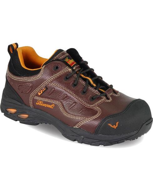 Thorogood Men's VGS-300/ASR/SD Sport Oxfords - Composite Safety Toe, Brown, hi-res